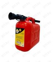 """Канистра пластиковая для технических жидкостей, красная 5 л """"ГЛАВДОР"""" GL-320 /24"""