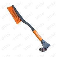 """Щетка для снега со скребком """"AUTOLUXE"""" AL-110 62 см, серый-оранжевый /12"""