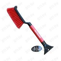 """Щетка для снега со скребком """"AUTOLUXE"""" AL-116 42 см, черный-красный /24"""