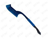 """Щетка для снега со скребком """"AUTOLUXE"""" AL-120 63 см, синяя /12"""