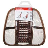 Подушка массажная для поддержки спины и поясницы, с деревянными вставками, коричневая