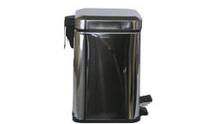 Урна для мусора  металлическая  хромированная Квадрат  5L