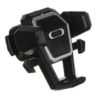 Держатель телефона на дефлектор, тип: раздвижной, с кнопкой, пластик 733-026