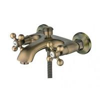 Смеситель HAIBA д/ванны с коротким изливом с двумя маховиками по бронзу НВ 3119-4
