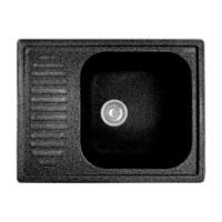 Мойка комп. GRANFEST Standart GF-S645L (645х500) Черный 308 с крылом