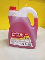 Антифриз ECOFREEZE -40 G12 красный 5кг